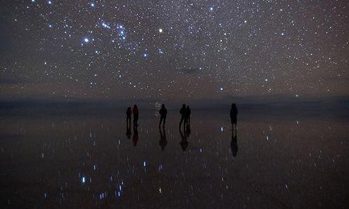 OB-UYU/5 Tour de 2 días y 1 noche  Salar de Uyuni - Puesta del Sol  - Tour de estrellas - Amanecer en el Salar de Uyuni *Laguna Cañapa - Flamencos (Opcional)