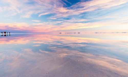OB-UYU/3 Tour Full Day  Reflejos del cielo - Salar de Uyuni en temporada de Lluvia